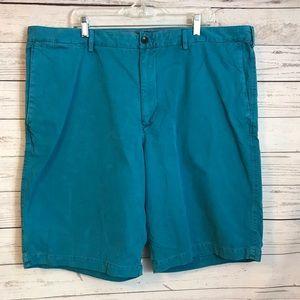 Men's Soft Cotton Turquoise Shorts Size 42